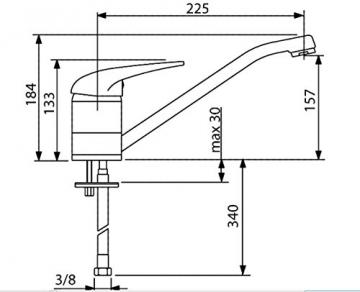 80658 Cover - Niederdruck Spültischarmatur - 2