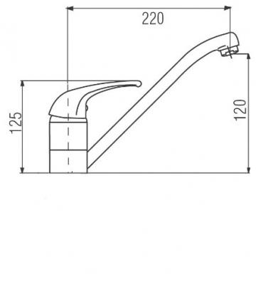 ADOB Niederdruck Spültischarmatur schwenkbar, verchromt, 39518 - 2