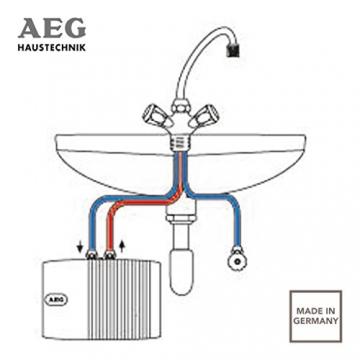 AEG 189554 MTH 350 hydraulischer Klein-Durchlauferhitzer EEK A, 3,5 kW drucklos für Handwaschbecken - 4