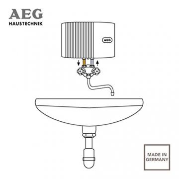 AEG 189554 MTH 350 hydraulischer Klein-Durchlauferhitzer EEK A, 3,5 kW drucklos für Handwaschbecken - 5