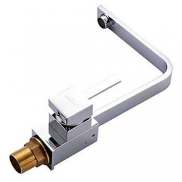 Auralum® 360°Schwenkbar Einhebelmischer Niederdruckarmatur Waschbecken Spültisch Küchenarmatur Chrom - 3