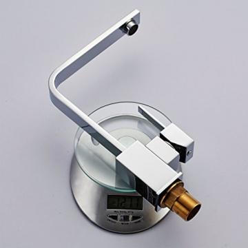 Auralum® Elegant Niederdruck Mischbatterie 360° Drehbar Armatur Wasserhahn Waschtischarmatur Einhebel Wasserfall Einhandmischer für Spüle Küche - 3