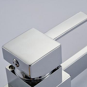 Auralum® Moderne 360°Drehbar Niederdruck Küchenamatur Waschtischarmatur Armatur Wasserhahn Spültsch Einhandmischer Waschtisch aus Messing Verchromt für Küche Waschbecken - 4