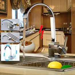 Auralum® Niederdruck Einhebel Küchearmatur Spültischarmatur Waschtisch Armatur Wasserhahn Mischbatterie für Küche - 1