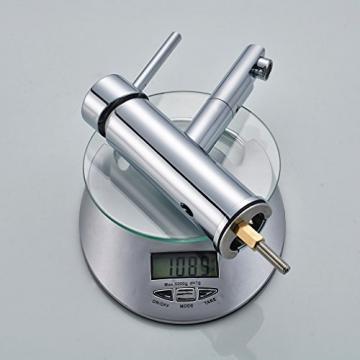 Auralum® Niederdruck Küchenarmatur Mischbatterie mit Mitteler Auslauf 360° Drehbar - 3