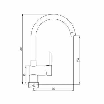 Burgtal 10860 K-8-NGS Vantila Einhebel Spültisch Armatur Niederdruck Granit-Schwarz - 2