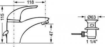 Cornat FR12 Free Waschtisch-Niederdruck-Einhebelmischer, chrom - 2