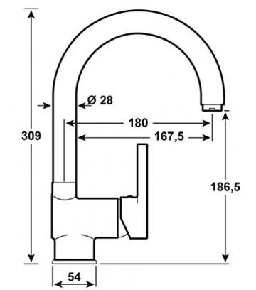 Cornat Skagen Spültisch-Einhebelmischer Niederdruck, chrom, SKA52 - 2