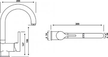 Cornat Skagen Spültisch-Einhebelmischer Niederdruck, chrom, SKA52 - 4