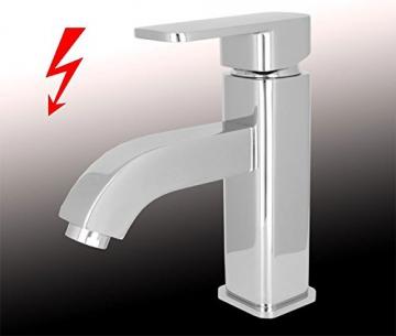 Design Niederdruck Armatur Waschbecken Massiv Einhebel Chrom - 1