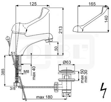 DIBL med Einhebel-Waschtischbatterie Niederdruck Spezial-Griff AG - 2