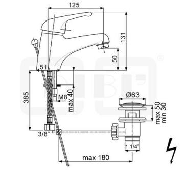 DIBL tech Einhebel-Waschtischbatterie Niederdruckarmatur mit Ablaufgarnitur - 2