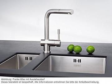 Franke Atlas Edelstahl massiv Niederdruck Spültisch-Armatur Ausziehauslauf Küchenarmatur - 2