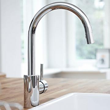 GROHE Concetto Küchenarmatur, hoher Auslauf zum Herausziehen, Schwenkbereich 360°, Niederdruck 31212001 - 3