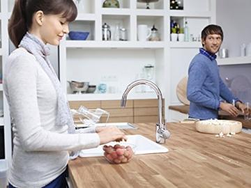 GROHE Concetto Küchenarmatur, hoher Auslauf zum Herausziehen, Schwenkbereich 360°, Niederdruck 31212001 - 5