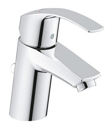 GROHE Eurosmart Waschtischarmatur mit Zugstange, Standard-Auslauf, Niederdruck für offene Warmwasserbereiter 23459002 - 1