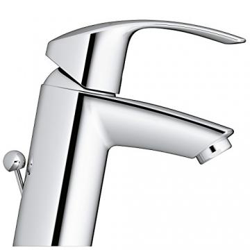 GROHE Eurosmart Waschtischarmatur mit Zugstange, Standard-Auslauf, Niederdruck für offene Warmwasserbereiter 23459002 - 3