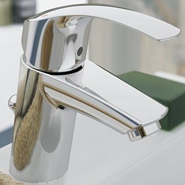 GROHE Eurosmart Waschtischarmatur mit Zugstange, Standard-Auslauf, Niederdruck für offene Warmwasserbereiter 23459002 - 4