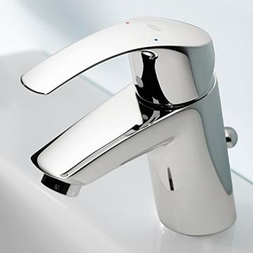 GROHE Eurosmart Waschtischarmatur mit Zugstange, Standard-Auslauf, Niederdruck für offene Warmwasserbereiter 23459002 - 5