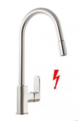 Grünblatt Niederdruck Küchenarmatur herausziehbar Brause Küche armatur Einhebelmischer Wasserhahn für Warmwasserspeicher/Boiler - 1