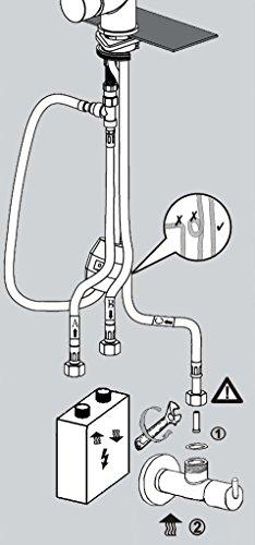 Grünblatt Niederdruck Küchenarmatur herausziehbar Brause Küche armatur Einhebelmischer Wasserhahn für Warmwasserspeicher/Boiler - 3