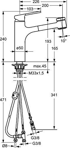 Hansa ronda 55191133 Spültisch Armatur, Niederdruck - 2