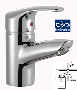 heinrichschulte NIEDERDRUCK Einhebel Waschtischarmatur ascona_1 mit Zugstangen-Ablaufgarnitur - 1