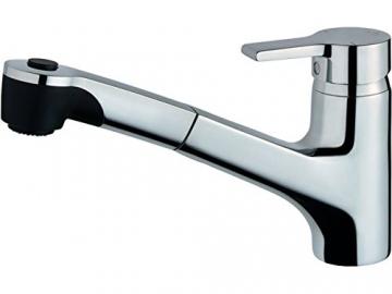 Ideal Standard B8436AA Küchenarmatur Active chrom für Niederdruck mit herausziehbarer Handbrause - 1