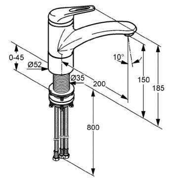Kludi L-ine 337930562  Spültisch-Bajonett-Einhebelmischer Niederdruck chrom - 2