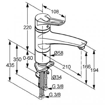 Kludi Mx 399050562 Spültisch-Einhebelmischer/Niederdruck chrom - 2