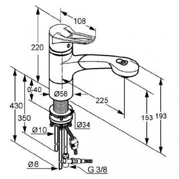 Kludi Mx 399420562 Spültisch-Einhebelmischer MITGeschirrbrause Niederdruck - 2