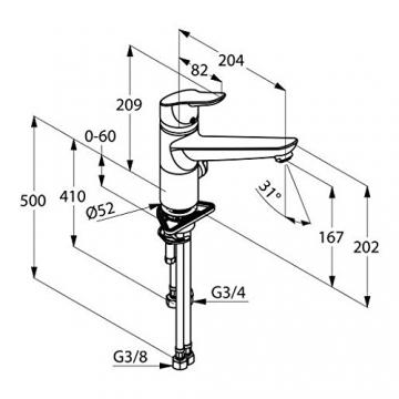 Kludi Objekta Spültisch- Multi- Einhandmischer DN 15 Niederdruck, 325770575 - 2