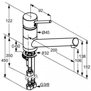 Kludi Scope 339399675  Spültisch-Einhebelmischer / Niederdruck DN10 edelstahlfinish - 2