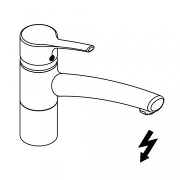 Kludi Spueltisch-Einhebel Mischer Trendo geschlossenem Hebel, schwenkbarem Auslauf, Niederdruck, verchromt, 335750575 - 2