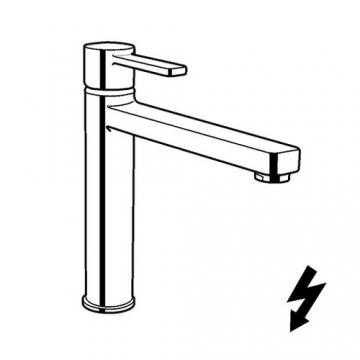 Kludi Spueltisch-Einhebel Mischer Zenta mit Strahlregler für drucklosem Speicher, verchromt, 389790575 - 2