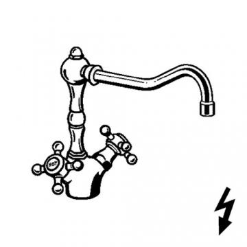 Kludi Spueltisch-Einlochbatterie Adlon Niederdruck-Ausfuehrung, verchromt, 516000520 - 2