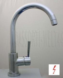 MIAMI Spültischarmatur Küchenarmatur Niederdruck CHROM - 1