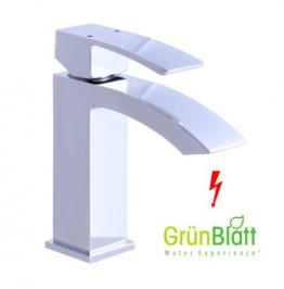 Niederdruck Bad Armatur mit Zugstange Waschtischarmatur Einhebelmischer Wasserhahn Badarmaturen armaturen Waschtischarmaturen - 1