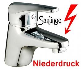 Niederdruck Chrom Waschbecken Waschtisch Bad Armatur Sanlingo - 1