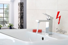 Niederdruck Design Waschbecken Waschtisch Bad Armatur Chrom Sanlingo - 1