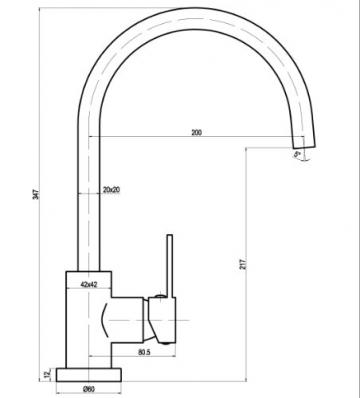 Niederdruck Edelstahl Optik matt Quadratische Eckige Küche Armatur Küchenarmatur Einhebelmischer Wasserhahn küchenarmaturen armaturen - 2