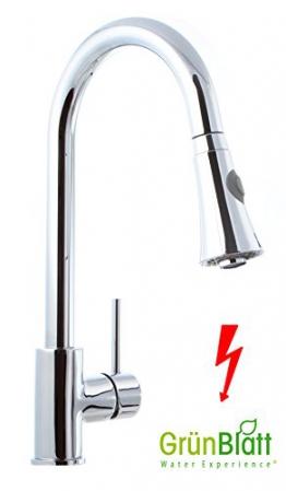 Niederdruck Küche Armatur herausziehbar Geschirrbrause Küchenarmatur Einhebelmischer Wasserhahn mit Brause Handbrause küchenarmaturen armaturen - 1