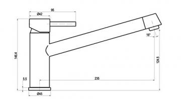Niederdruck Küche Armatur Küchenarmatur Einhebelmischer Wasserhahn küchenarmaturen armaturen - 2