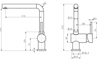gr nblatt niederdruck k chenarmatur einhebelmischer chrom hoher auslauf. Black Bedroom Furniture Sets. Home Design Ideas