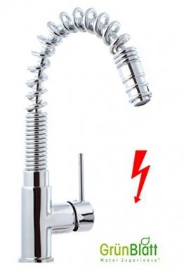 Niederdruck Küchenarmatur herausziehbar Geschirrbrause Küche Armatur Einhebelmischer Wasserhahn mit Brause Handbrause küchenarmaturen armaturen - 1