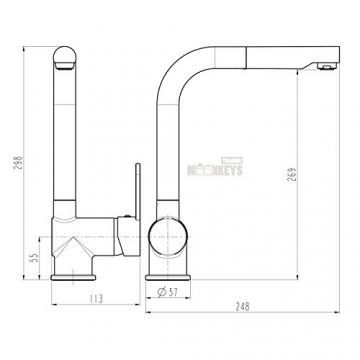 Niederdruck Spültisch Armatur Einhebel Wasserhahn Mischbatterie