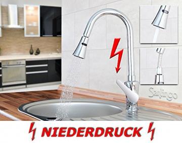 Niederdruck Spültisch Küchen Armatur schönes Design 2 Strahlarten Hoch Sanlingo - 2