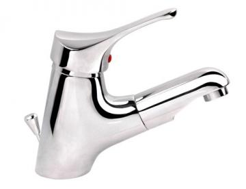 Niederdruck Waschtischarmatur mit herausziehbarer Kopfbrause chrom - 1
