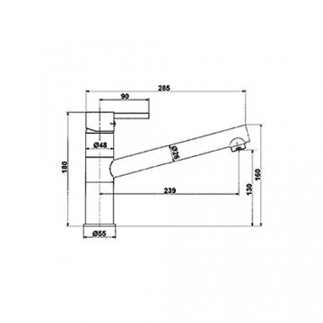 Niederdruckarmatur Edelstahl Optik VAF Einhebelmischer SEDAL - Keramikkartusche mit Sparfunktion Wasserhahn 90° Schwenkbereich ausziehbare Brause Spültischarmatur Handbrause Spüle - 2