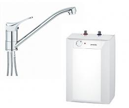 respekta Gorenje Boiler Warmwasserspeicher Untertisch 10 Liter mit Armatur EKW 10 U + Qmix 700 Set - 1